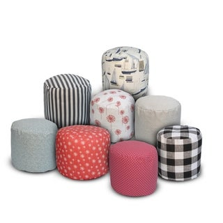 The 1st Chair Pillow Poufette Small Round Pouf