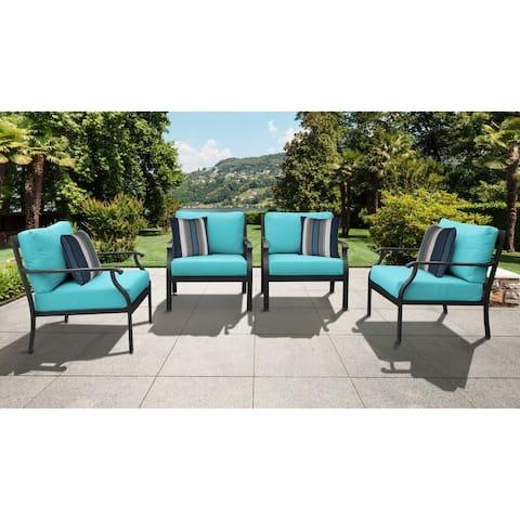 kathy ireland Madison Ave. 4 Piece Outdoor Aluminum Patio Furniture Set 04g