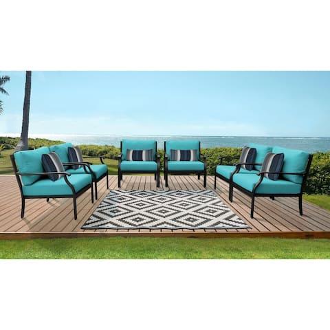kathy ireland Madison Ave. 6 Piece Outdoor Aluminum Patio Furniture Set 06w