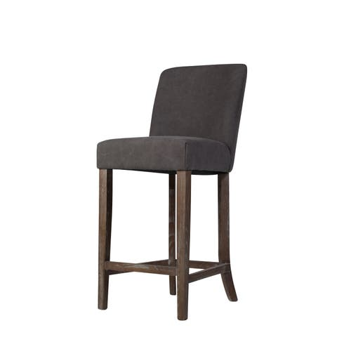 Duval Counter Stool in Frost Grey Canvas