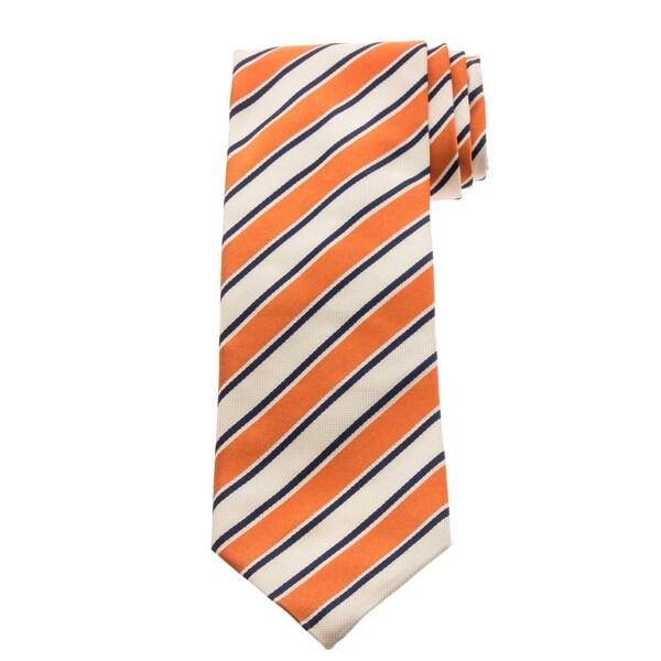 Versace Mens Stripe Silk Tie