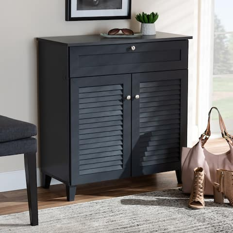 Copper Grove Zdolbuniv Dark Grey 4-shelf Shoe Storage Cabinet