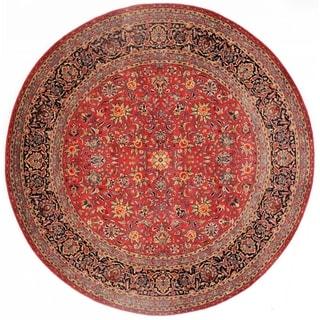 Red Lambswool Pasargad Persian Kashan Design Rug - 8'3 x 8'3