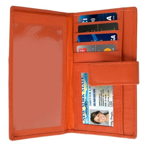 AFONiE Leather Flat Women Wallet