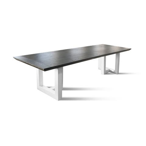 SIGMA Dining Table - Charcoal/White