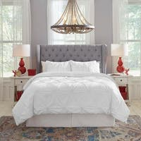 Pointehaven 200TC Cotton Knotted Pintuck Duvet Set