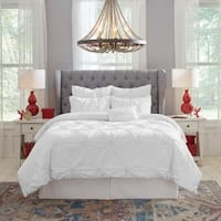 Pointehaven Knotted Pintuck Cotton Comforter Set