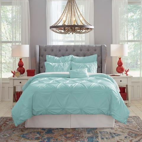 Pointehaven Knotted Pintuck Cotton Comforter Set