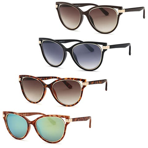 AFONiE Modern Diva Frame Sunglasses (4 Pack) - Multi