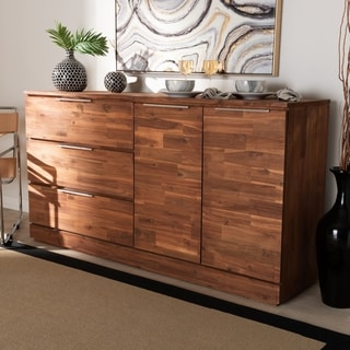 Carbon Loft Sonique Contemporary Brown Wood 3-drawer Dining Room Sideboard