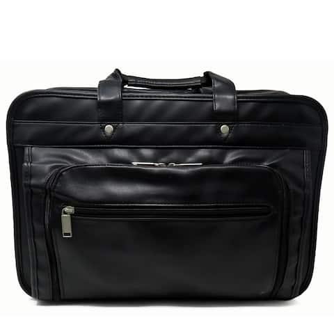 AFONiE Leather Briefcase w/ Laptop Holder