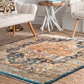 Porch & Den Knowlton Vintage Medallion Area Rug
