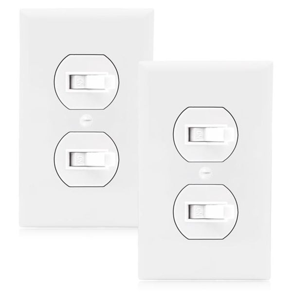 Black Switch Plate for Toggle Switches 25 PACK