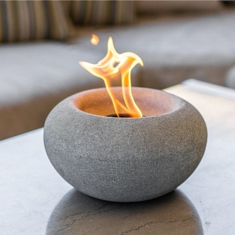 Wave Table Top Fire Bowl - Stone Fire Bowl