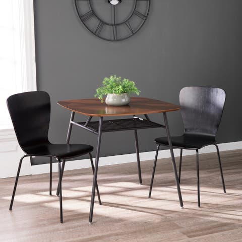 Carson Carrington Metal Legs and Wood Top Square Dining Table