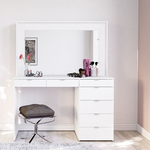 Boahaus Joan White Dressing Table