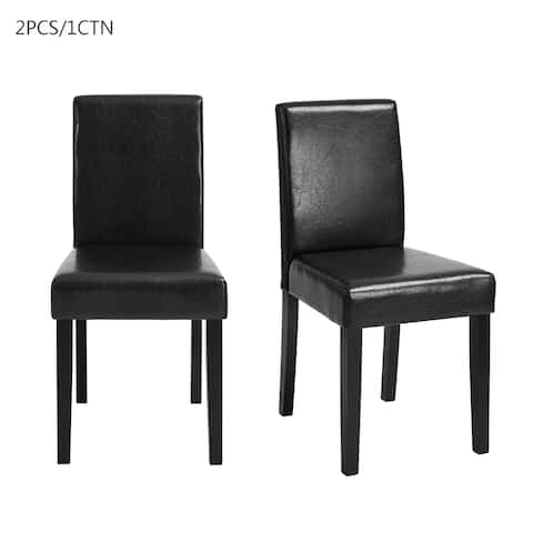 Copper Grove Turku Faux Leather Side Chairs (Set of 2)