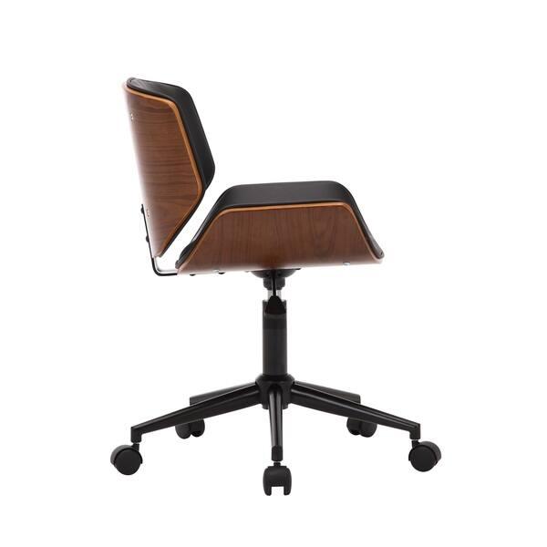 Pleasant Shop Porthos Home Niam Armless Swivel Office Chair Pu Bralicious Painted Fabric Chair Ideas Braliciousco