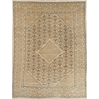 """Vintage Muted Mahal Hand Knotted Wool Oriental Persian Area Rug - 13'2"""" x 9'4"""""""