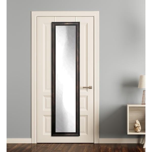 Clouded Bronze Full Length Over the Door Mirror