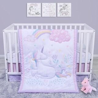 Sweet Unicorn 4 Piece Crib Bedding Set
