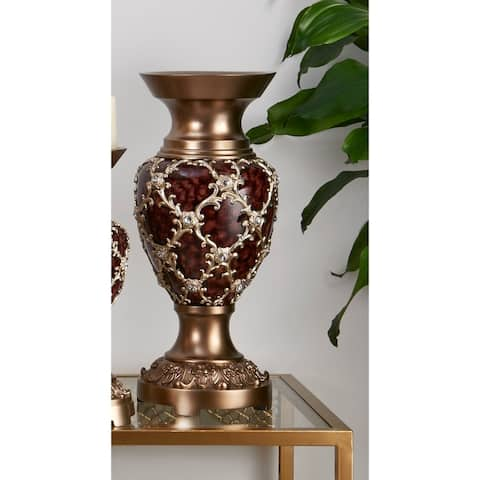 17.5 IN. Curvae Stencil Decorative Vase