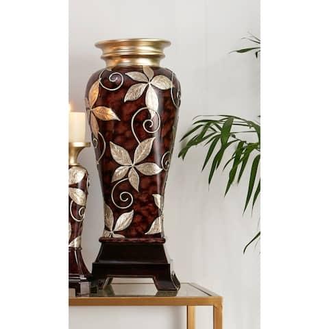 23.75 In. Folius Floral Foliage Décor Vase