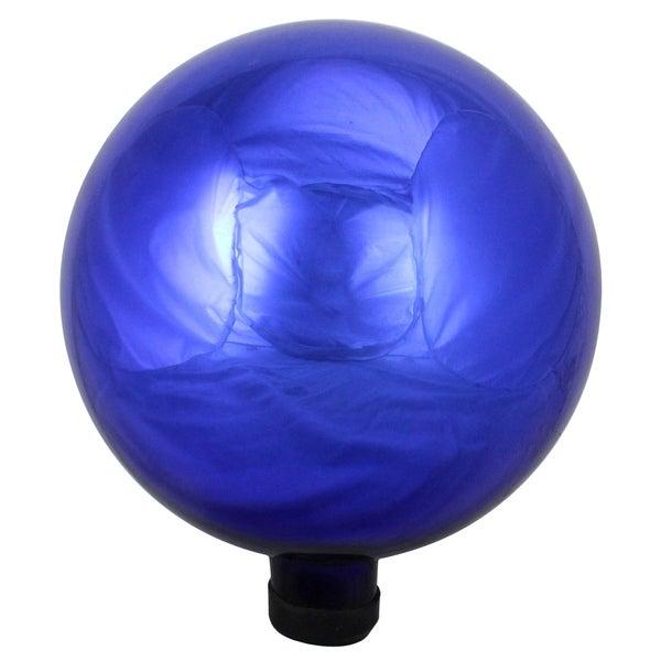 Shop 10 Quot Royal Blue Glass Outdoor Patio Garden Gazing Ball