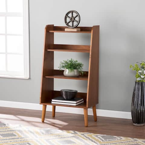 Carson Carrington Barrencroft Mid-century Modern Walnut Wood Bookshelf