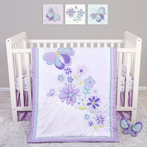 Butterfly Meadow 4 Piece Crib Bedding Set