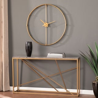 Carson Carrington Dexdale Contemporary Gold Large Metal Clock