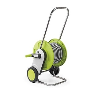 G.F. Garden Concept Plus Hose and Reel Trolley - Includes a 75 ft. Hose & 8 Jet Ergonomic Spray Pistol Nozzle