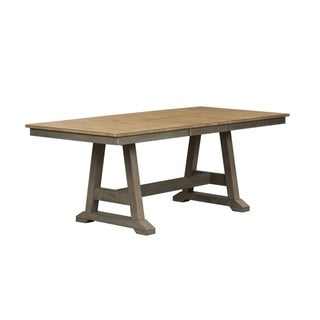 Lindsey Farm Grey and Sandstone Trestle Table