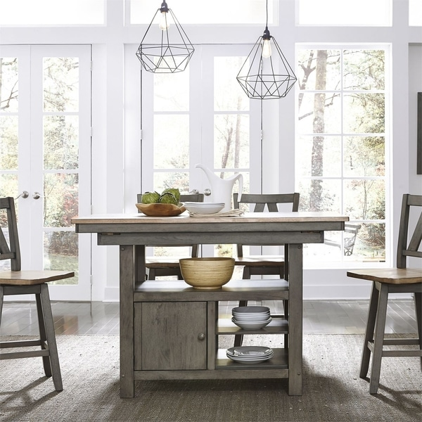 Lindsey Farm Grey and Sandstone 5-piece Gathering Table Set