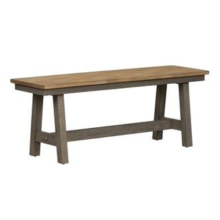 Lindsey Farm Grey and Sandstone Backless Bench