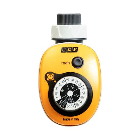 G.F. Garden GF16 Easy Electronic Programmable Watering Timer - 16 Programmable Combinations - Orange/White