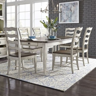 Parisian Marketplace Two-tone 7-piece Rectangular Table Set