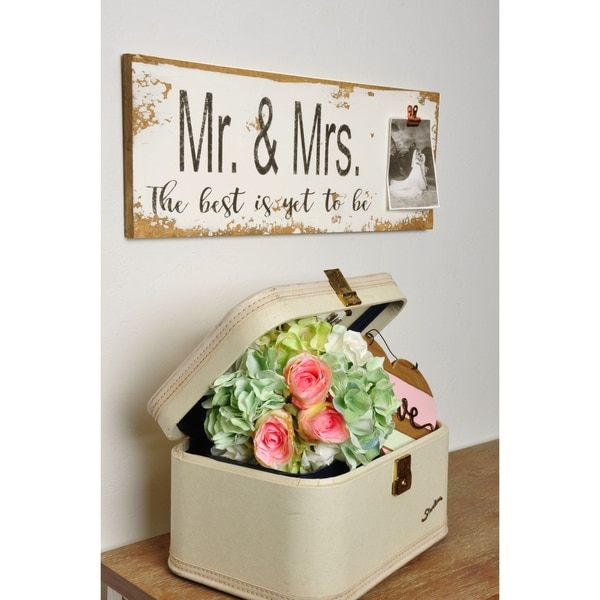 """Mr & Mrs Wedding Sign with Photo Clip - 24"""" x 9.25"""