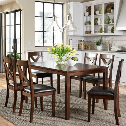 Thornton Russet X-back Side Chairs (Set of 2)