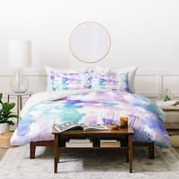 Deny Designs Dye Ovals Pink Turquoise Duvet Cover Set (3 Piece Set)