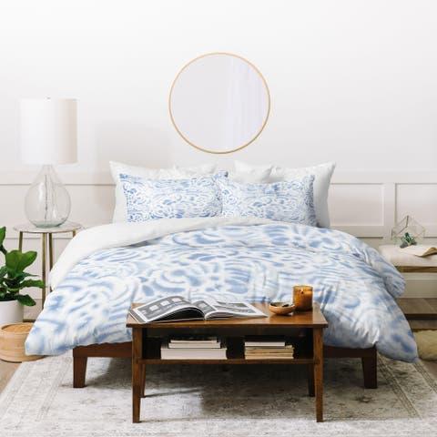 Deny Designs Dye Cuves Soft Blue Duvet Cover Set (3 Piece Set)
