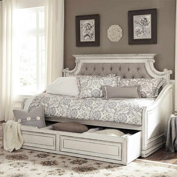 Liberty Magnolia Manor Antique White Twin Trundle Bed by Liberty