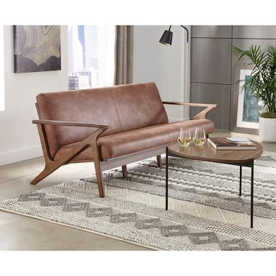 Faux Leather Transitional Sofas