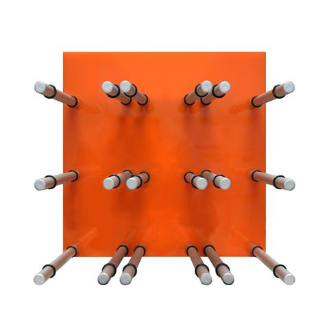 Epicureanist 9-Bottle Acrylic Peg Wine Racks (Orange)