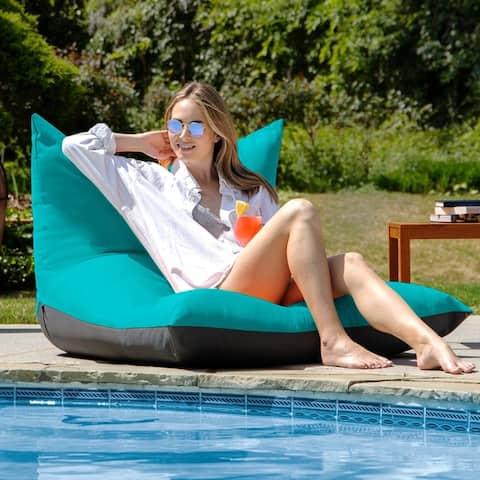 Deshi Sunbrella Patio Bean Bag Lounge Chair by Havenside Home