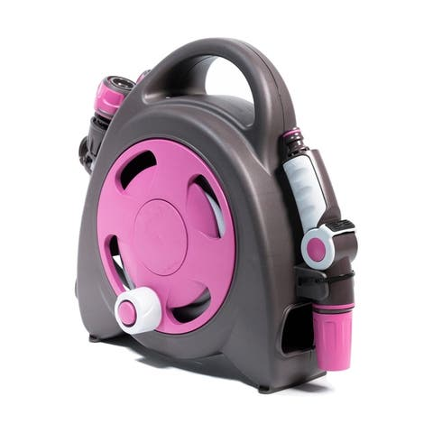 G.F. Garden Aquabag Mini Portable Hose and Reel - Max. 58 psi, 38 ft. Retractable Hose Line