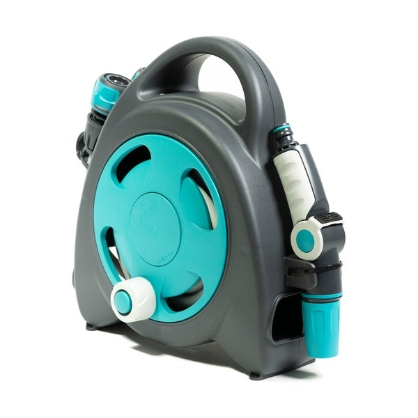 G.F. Garden Aquabag Mini Portable Hose and Reel - Max. 58 psi, 38 ft. Retractable Hose Line