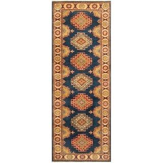 Handmade Kazak Wool Runner (Afghanistan) - 2'10 x 7'8