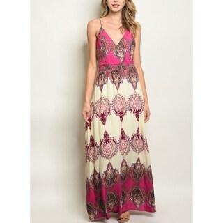JED Women's Paisley Print V-Neck Maxi Dress
