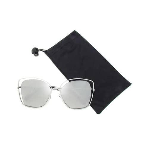 Oversize Double Wire Cat-Eye Sunglasses P4173